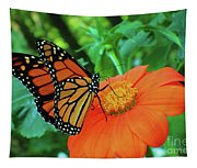 Monarch On Mexican Sunflower Tapestry