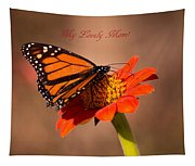 Monarch On Tithonia Mother's Day Gifts Tapestry