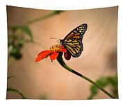 Monarch On Zinnia Tapestry