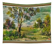 Monetcalia Catus 1 No. 3 Landscape Scene Near Fontainebleau L B With Alt. Decorative Printed Frame. Tapestry