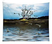 Money Tree On A Windy Day Tapestry