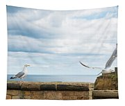 Monitored Seagull Take-off Tapestry