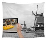 Monochromatic Concept Travel To Netherlands Tapestry