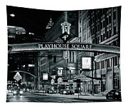 Monochrome Grayscale Palyhouse Square Tapestry