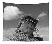 Monochrome Scarecrow Tapestry