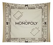 Monopoly Board Patent Vintage Tapestry