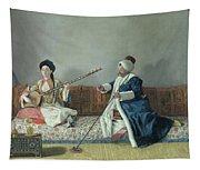 Monsieur Levett And Mademoiselle Helene Glavany In Turkish Costumes Tapestry