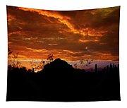 Monsoon Sunset  Tapestry