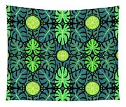 Monstera Leaves Pattern Tapestry