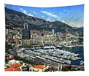 Monte Carlo Harbor View Tapestry