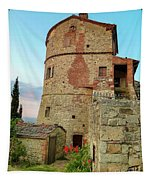 Montefollonico Stone Tower And Fortress Tapestry