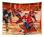 Montreal Forum Hockey Game Tapestry