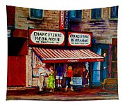 Montreal Paintings  Available For Fundraisers By Streetscene  Artist Carole Spandau  Tapestry