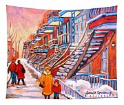 Montreal Winter Walk Tapestry