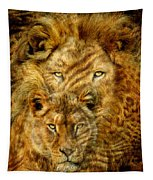 Moods Of Africa - Lions 2 Tapestry