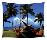 Moolele Canoe At Hui O Waa Kaulua Lahaina Tapestry