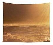 Moomomi Beach Sunset Tapestry