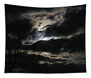 Moon In The Clouds Over Kentucky Lake Tapestry