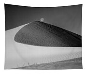 214804-bw-moon Over Dune  Tapestry