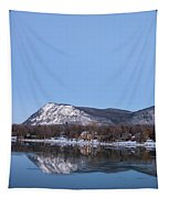 Moon Over Mont Saint Hilaire  Tapestry