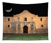 Moon Over The Alamo Tapestry