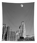 612751-moon Over The Titan  Tapestry