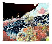 Moon Over Utah Tapestry