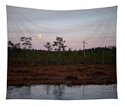 Moon Over Wetlands Tapestry