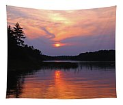 Moon River Silhouette Tapestry