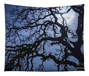 Moonlight And Oak Tree Tapestry