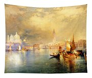Moonlight In Venice Tapestry