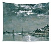 Moonlit Seascape Painting By Eugene Louis Boudin