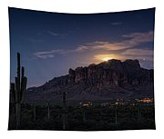 Moonrise Over The Superstitions Tapestry