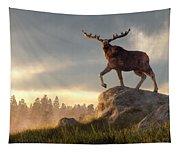 Moose At Dawn Tapestry