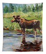 Moose At Henry's Fork Tapestry