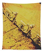 Moped Parking Lot Tapestry