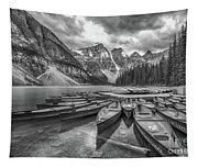 Moraine Lake In Black And White Tapestry