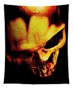 Morbid Decaying Skull Tapestry