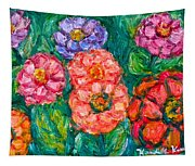 More Zinnias Tapestry