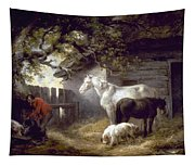 Morland: Farmyard, 1792 Tapestry