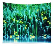 Morning By The Pond Tapestry