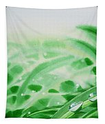 Morning Dew Drops Tapestry