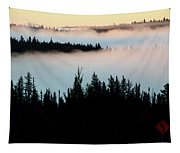 Morning Fog In Northern Saskatchewan Tapestry