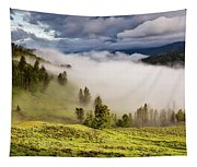 Morning Fog Over Yellowstone Tapestry