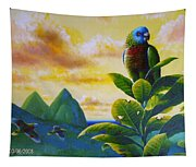 Morning Glory - St. Lucia Parrots Tapestry
