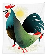 Morning Glory Rooster And Hen Wake Up Call Tapestry