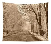Morning Ice And Fog Tapestry