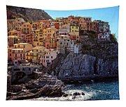 Morning In Manarola Cinque Terre Italy Tapestry
