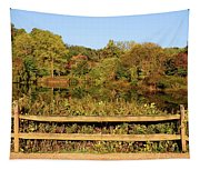 Morning Landscape In The Park Tapestry