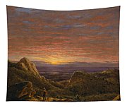 Morning Looking East Over The Hudson Valley From The Catskill Mountains Tapestry